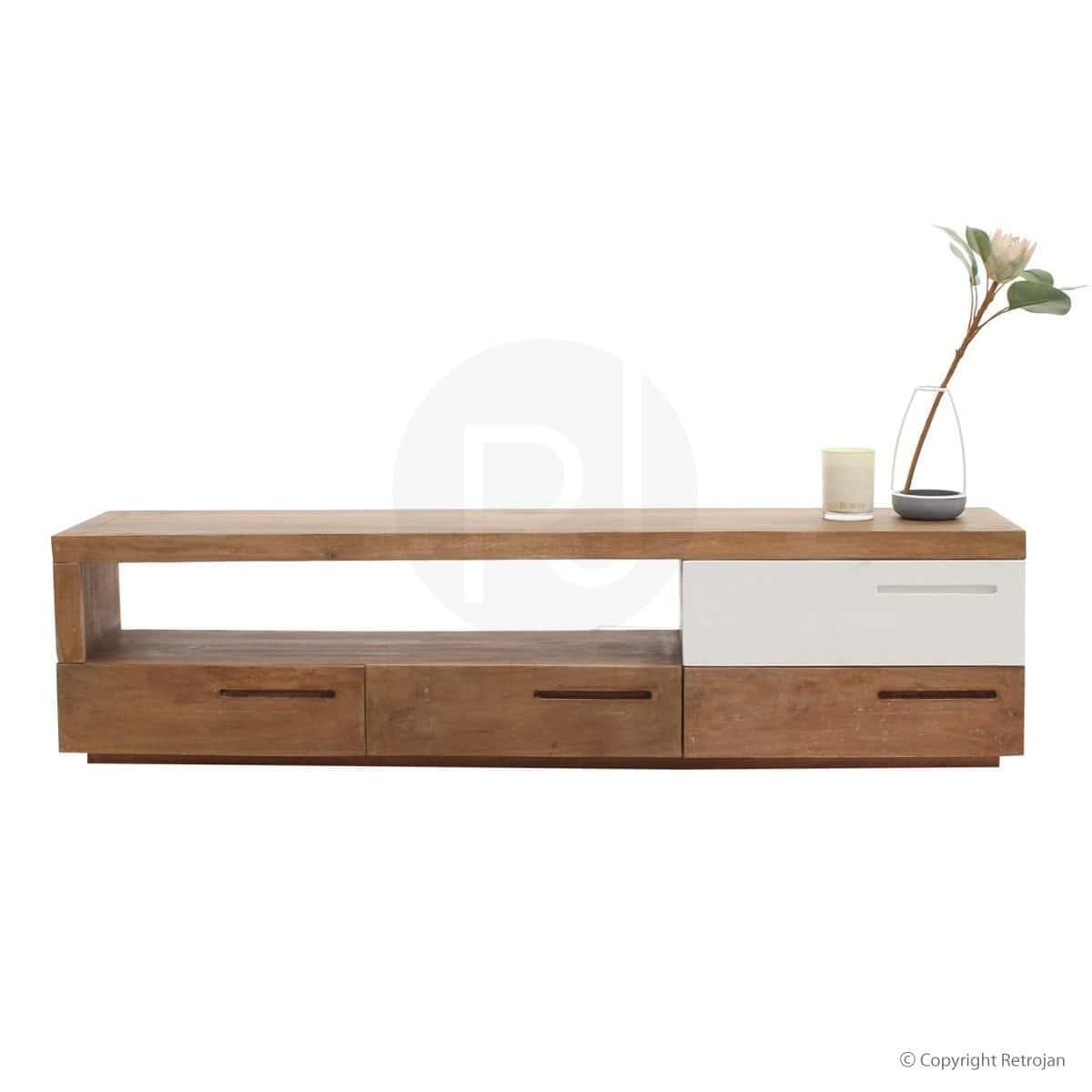Odette Designer Entertainment Unit - Solid Wood