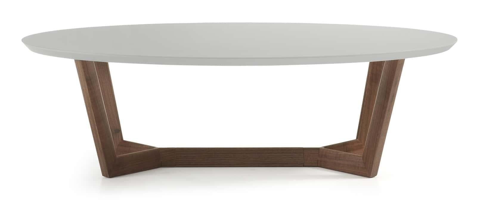 Eastin Coffee Table - Walnut and Light Grey