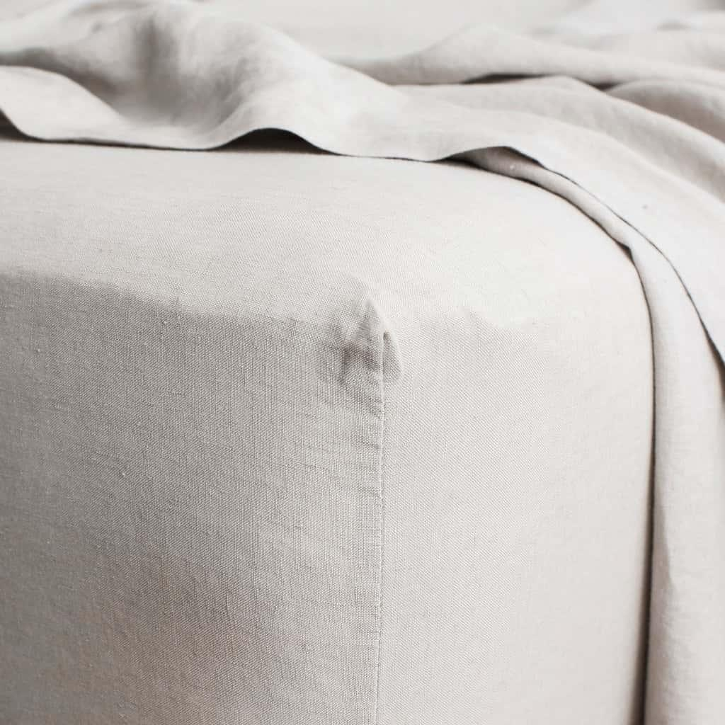 Linen Sheet Set - Smoke Grey [Size: Queen]