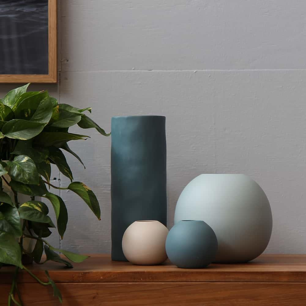 Light Blue Bubble Vase - L