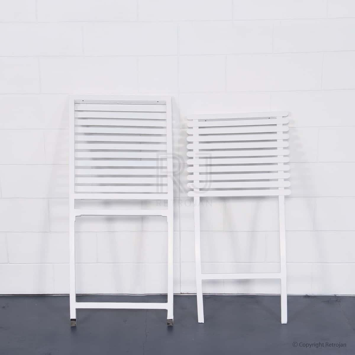 SET OF 2 Jackson Folding Chair - White