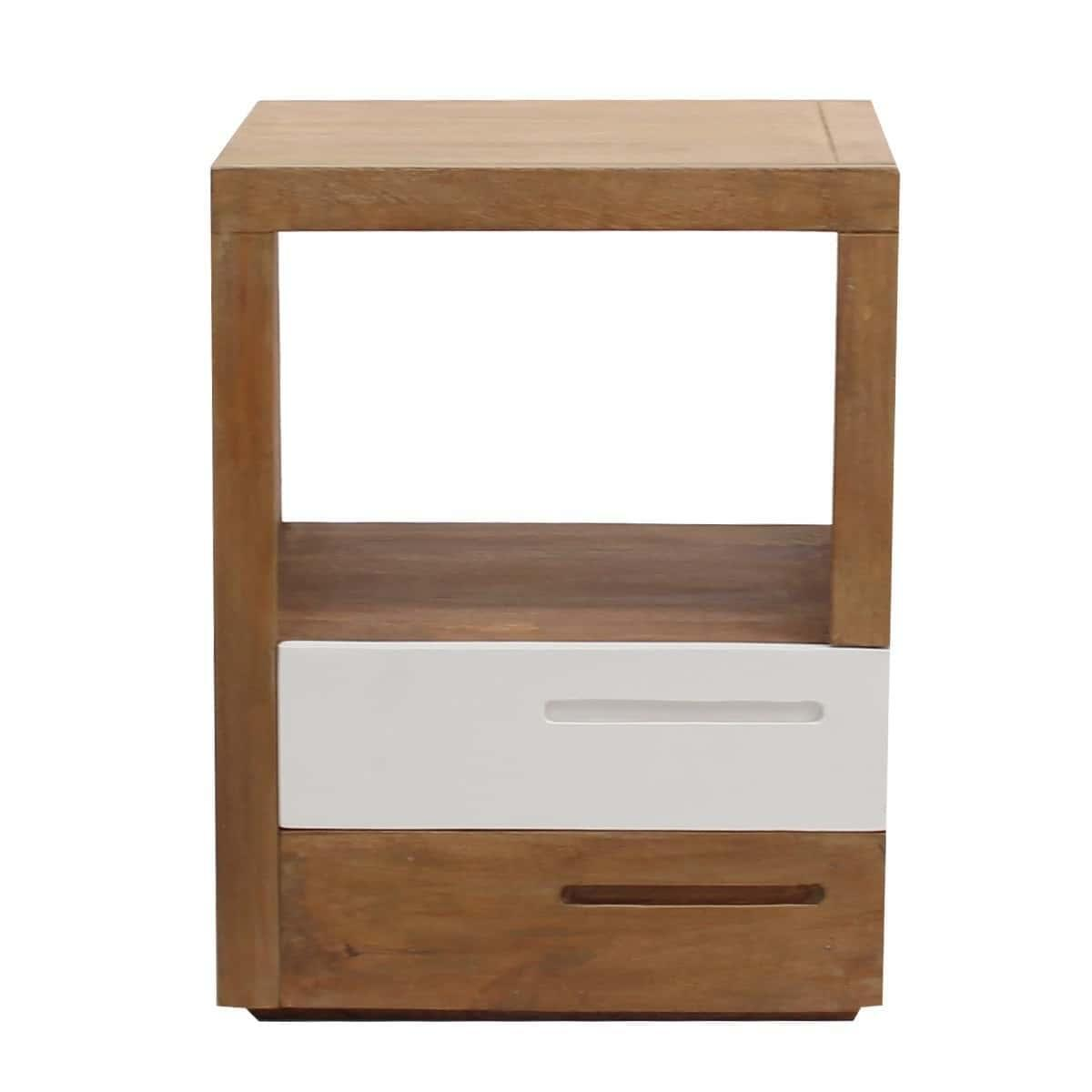 Grace Modern Designer Bedside Table - Solid Wood