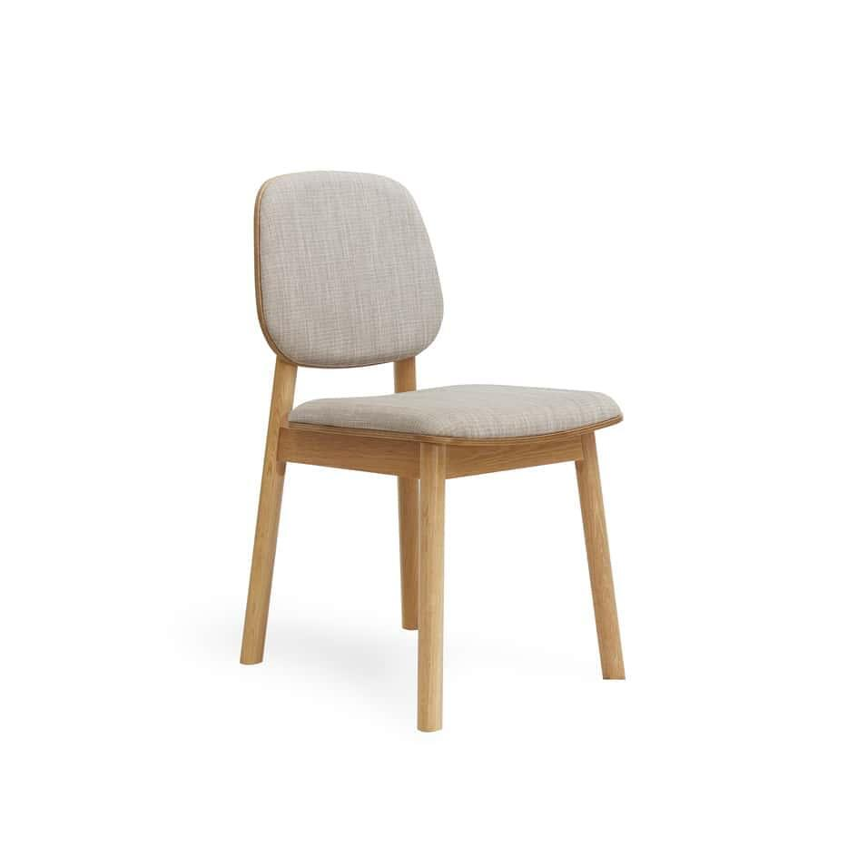 Set of 2 Akira Contemporary Linen Back Dining Chair