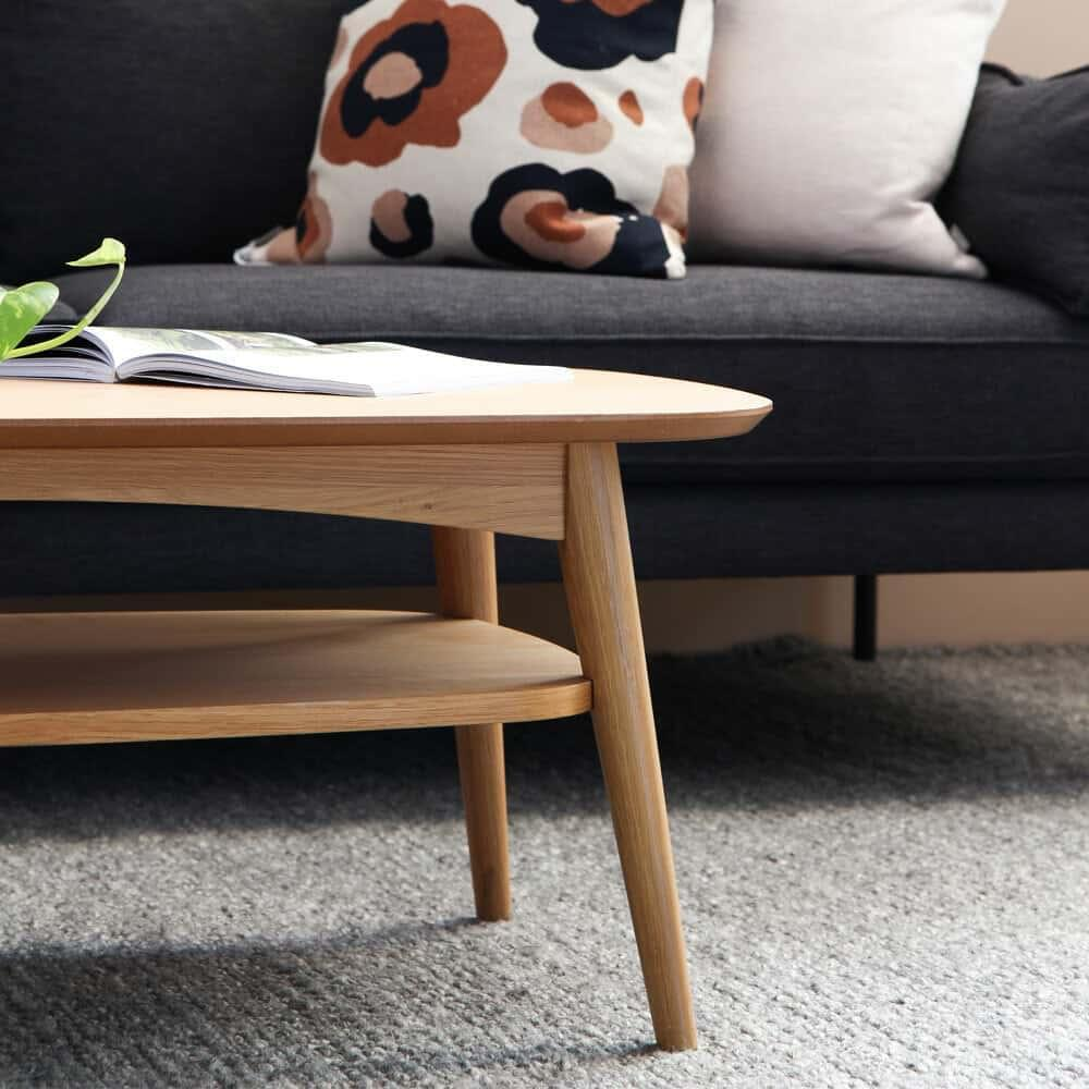 Buy Vaasa Olivia Modern Designer Inspired Coffee Table With Shelf Oak Online