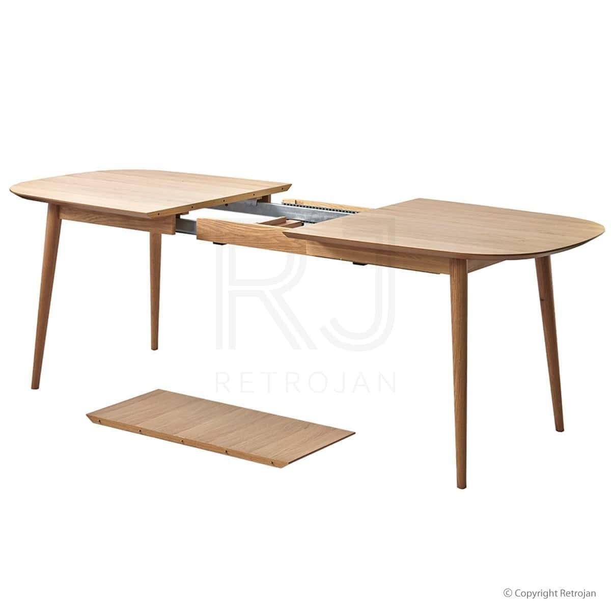 Buy mia extension dining table oak online retrojan for Extension dining table