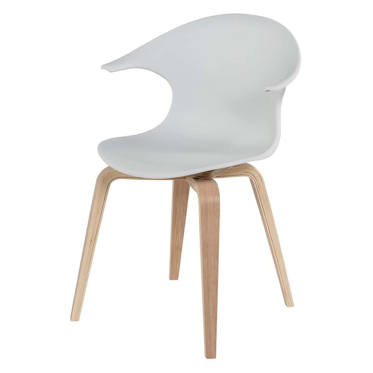 Set of 2 Iggy Designer Dining Chairs - White