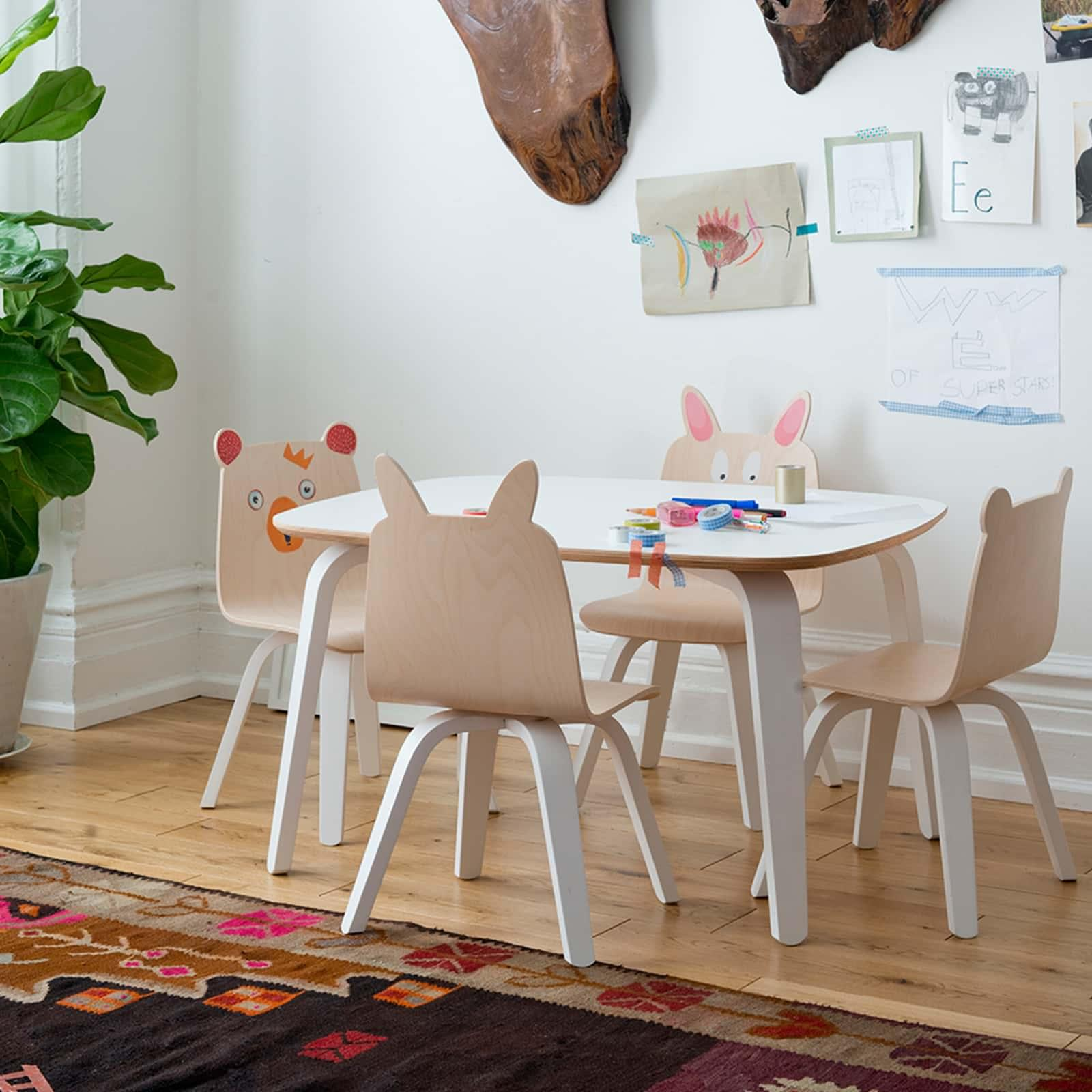 SET OF 2 Bear Play Chair - Walnut / White