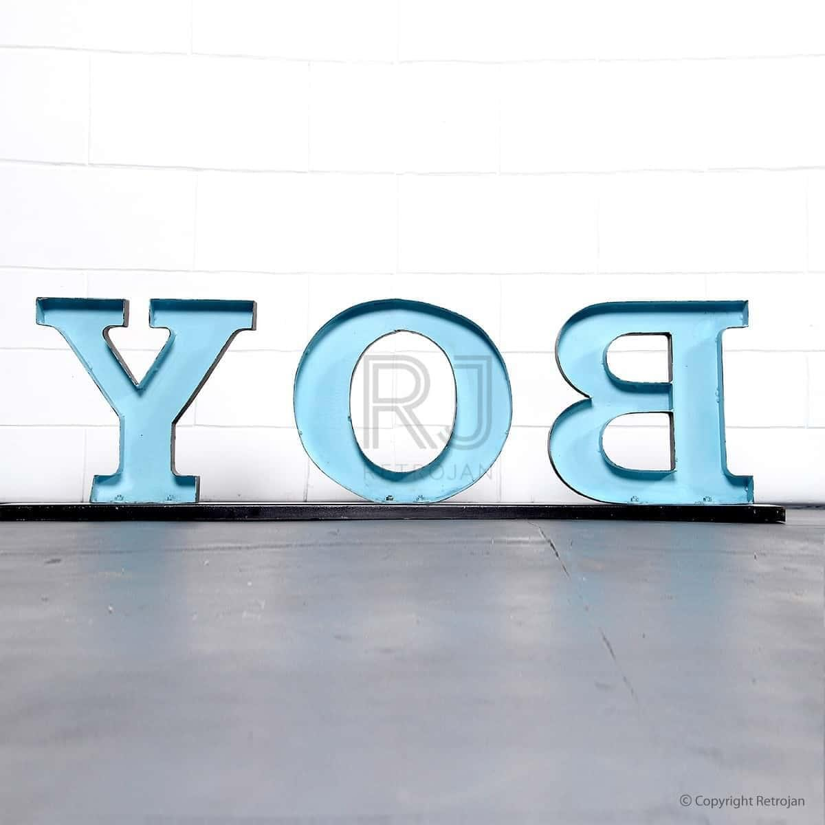 BOY' Retro Iron Feature Letters