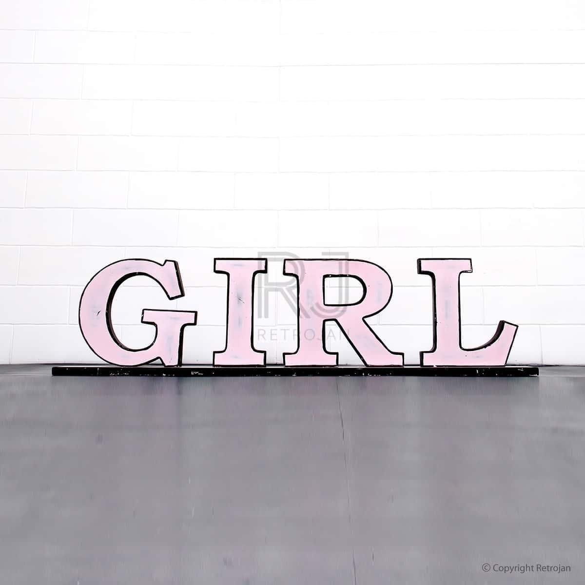 GIRL'  Retro Iron Feature Letters