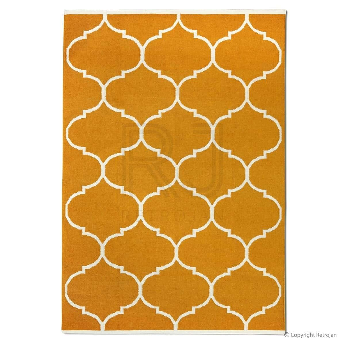 Savoy Designer Rug - Orange