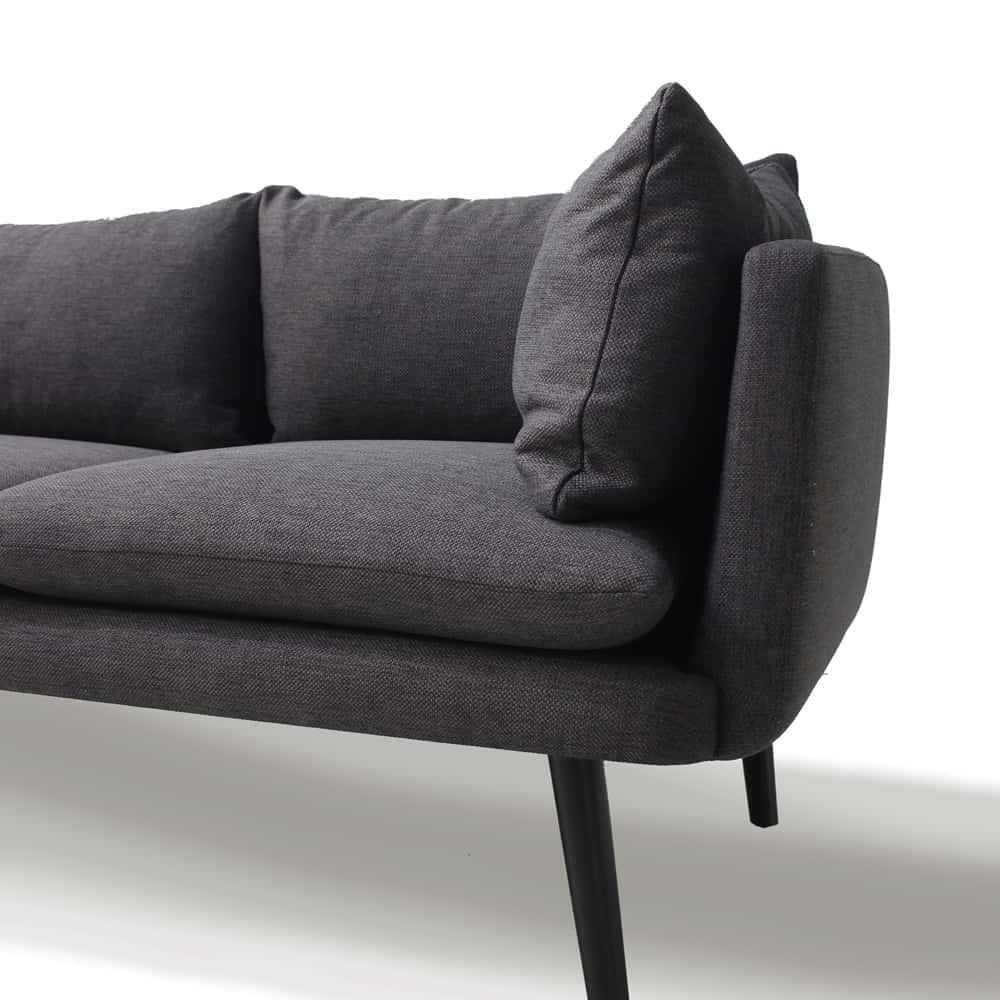 Embrace Designer 3 Seater Sofa - Charcoal