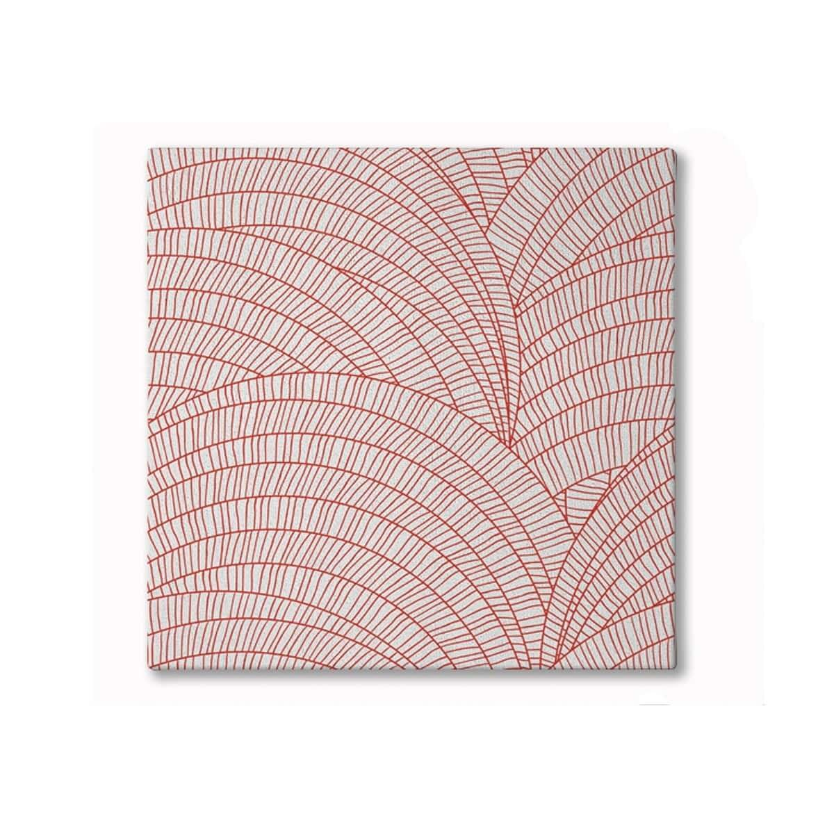 Shell Hand Tufted Woollen Rug - Fire Red