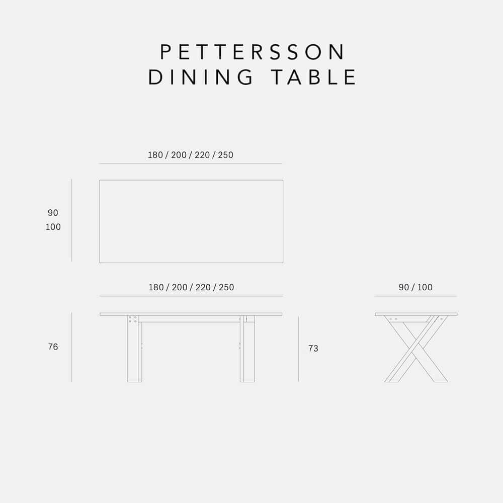 Ethnicraft Oak Pettersson Dining Table 200cm