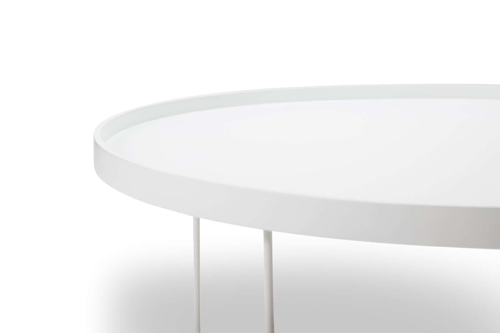 Ryland Scandinavian Style Tray Coffee Table - White with Metal Legs