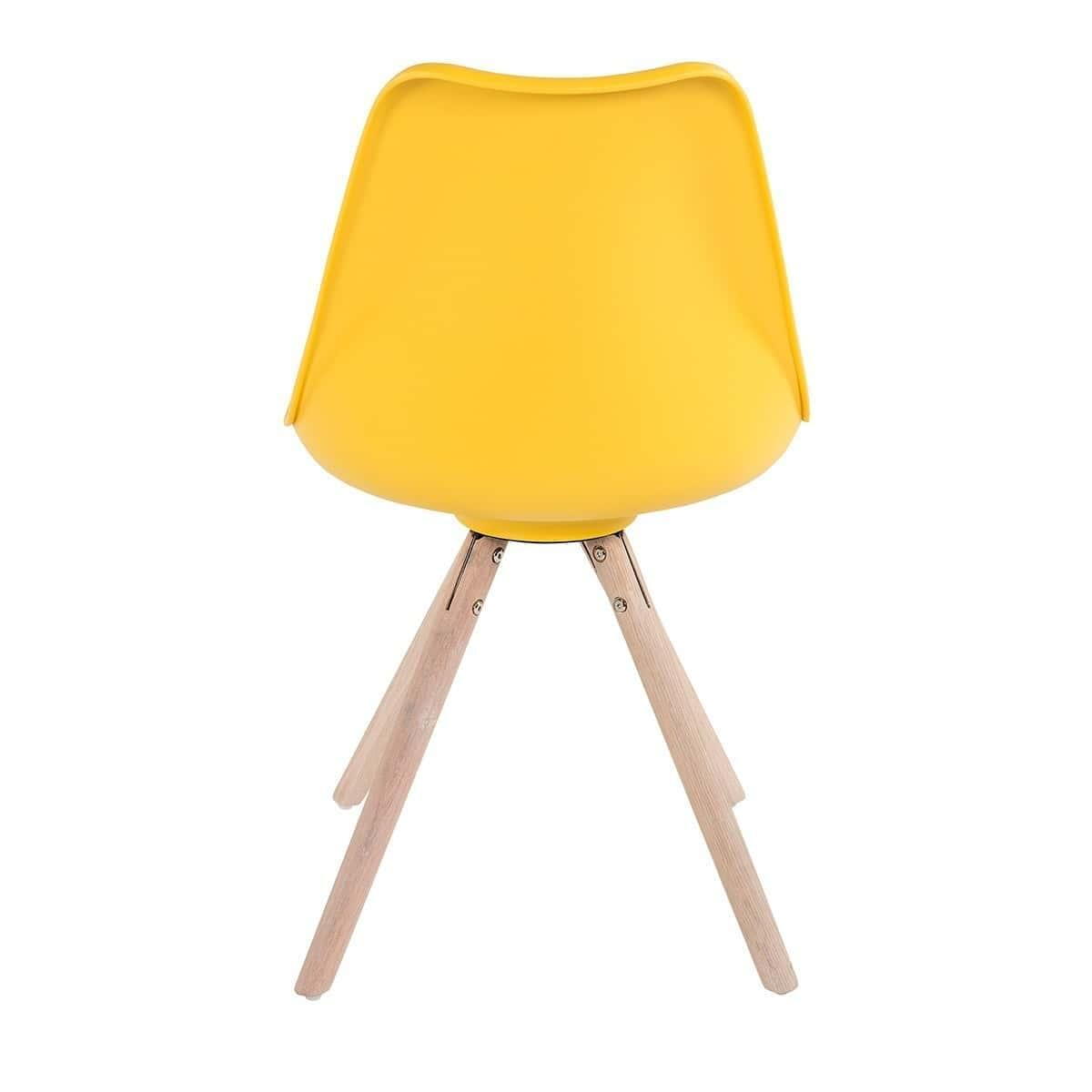 Buy Set Of 2 Minsk Cushioned Dining Chair Yellow Online