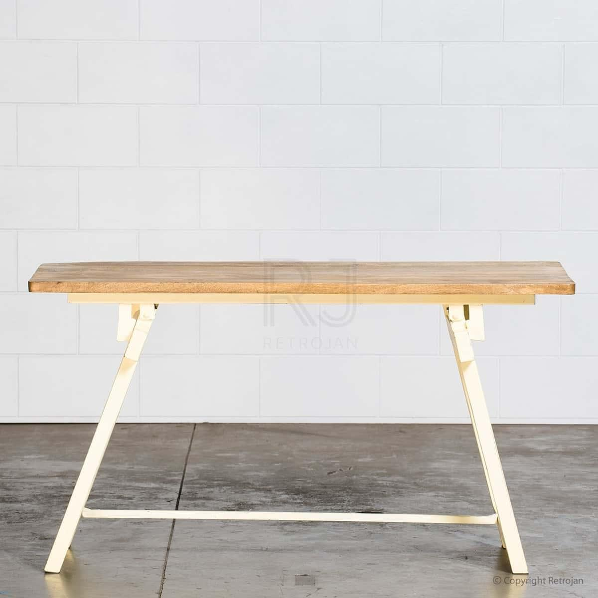 Louis Industrial Table - Yellow