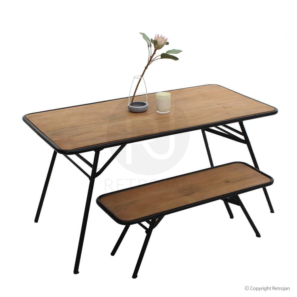 frazer industrial style dining table prince