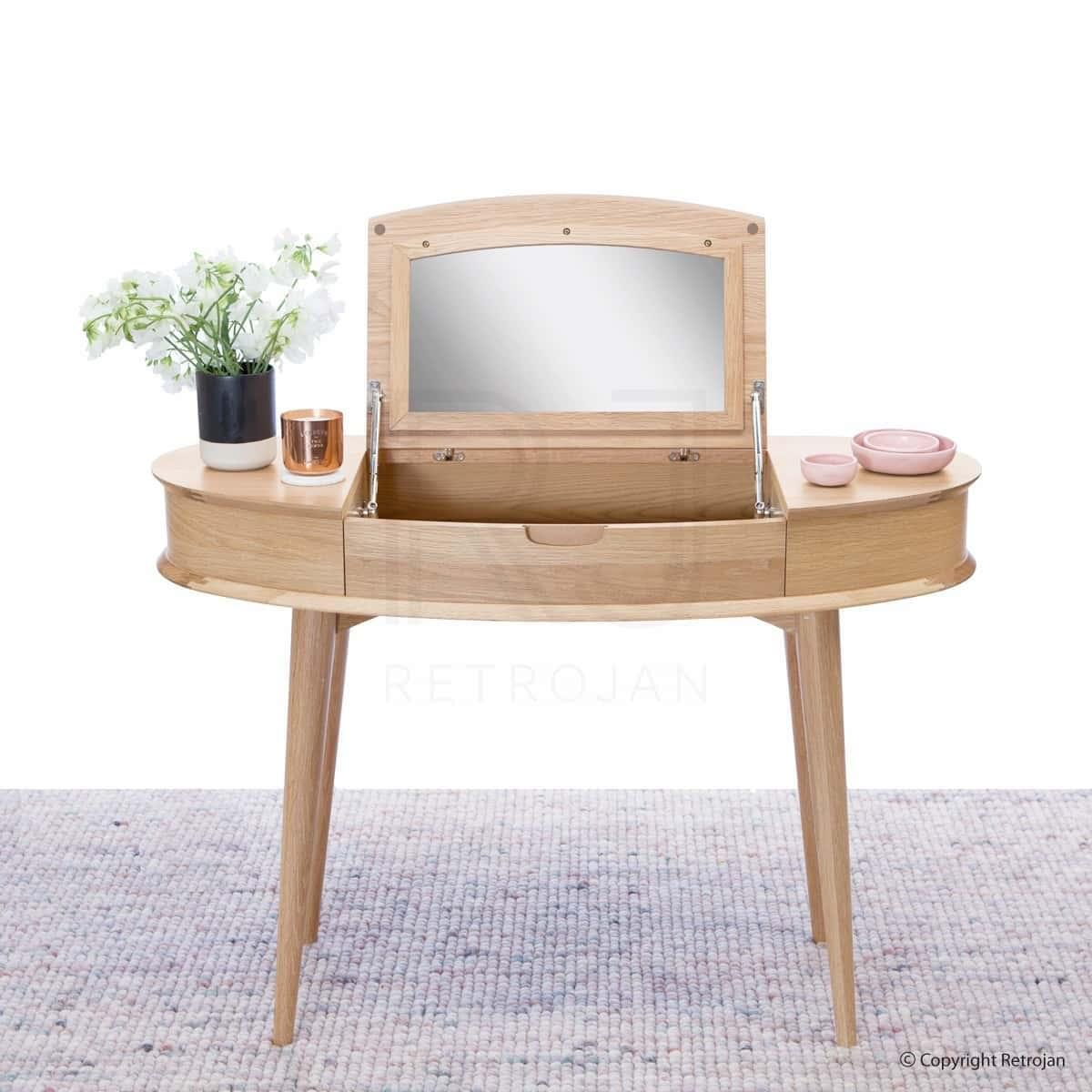 Malmo Madeline Danish Inspired Dressing Table - Oak