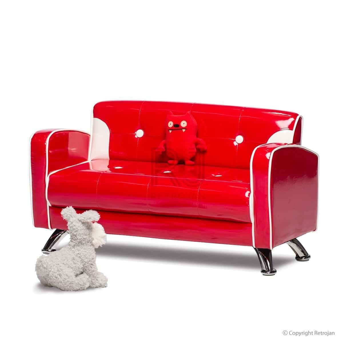 Ginny Kids Sofa - Fire Engine Red