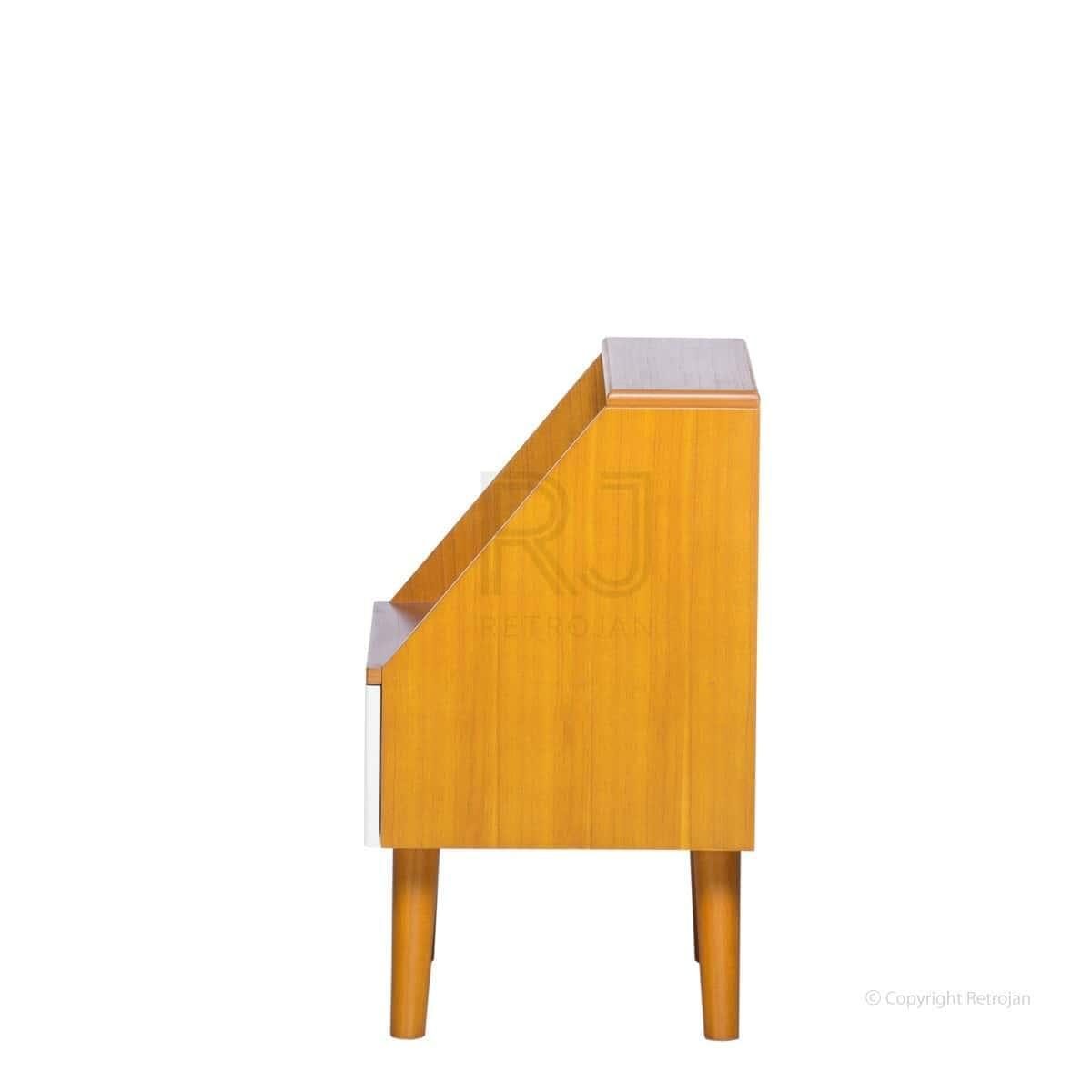Frederick Retro Side Table - Walnut / White