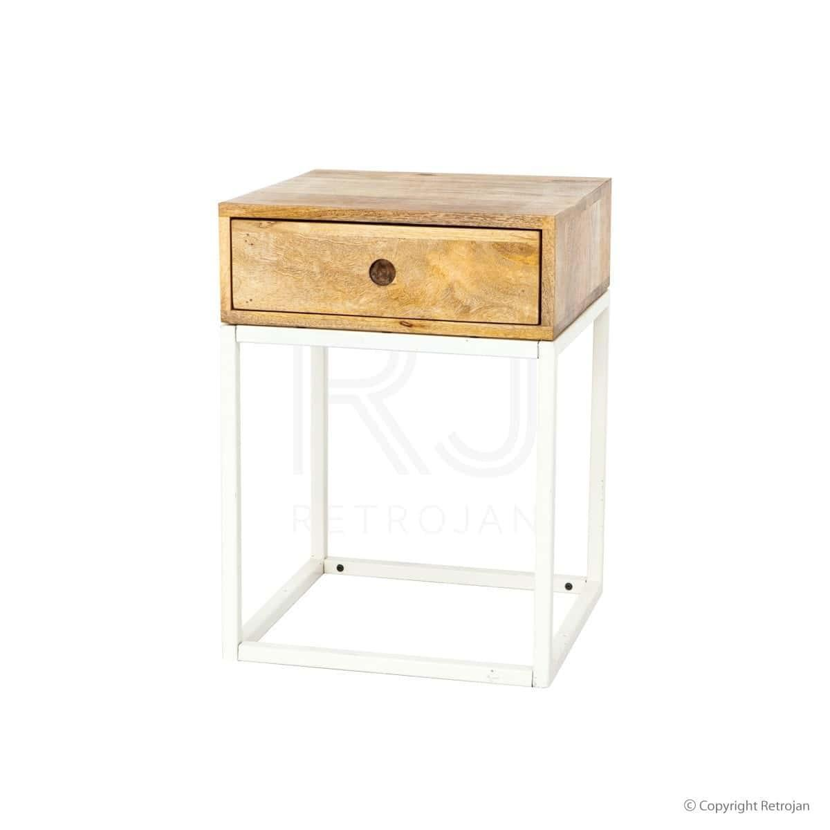 Colton Modern Designer Bedside Table - Solid Wood