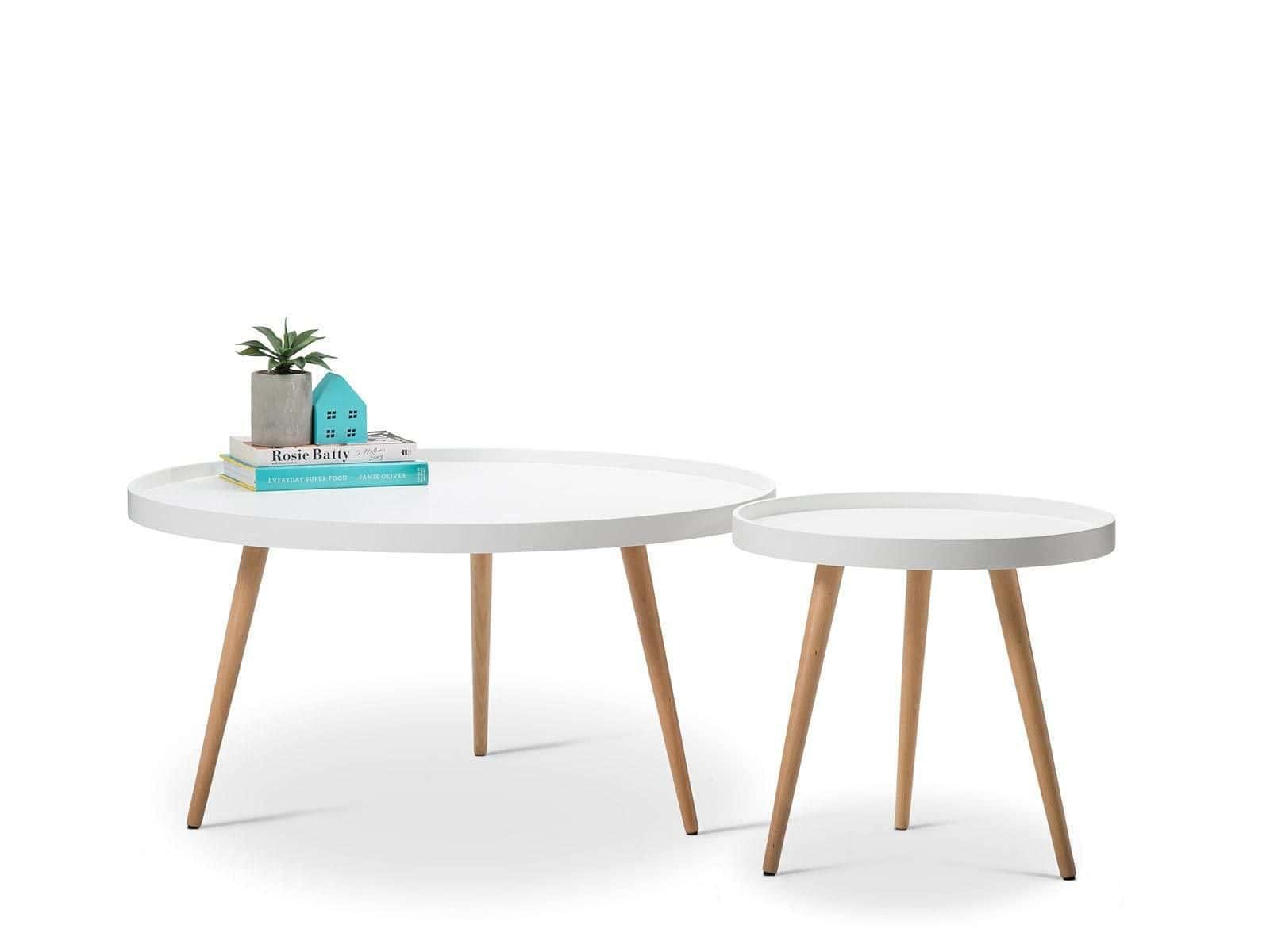 Hazel scandinavian style tray side table white for Tray side table