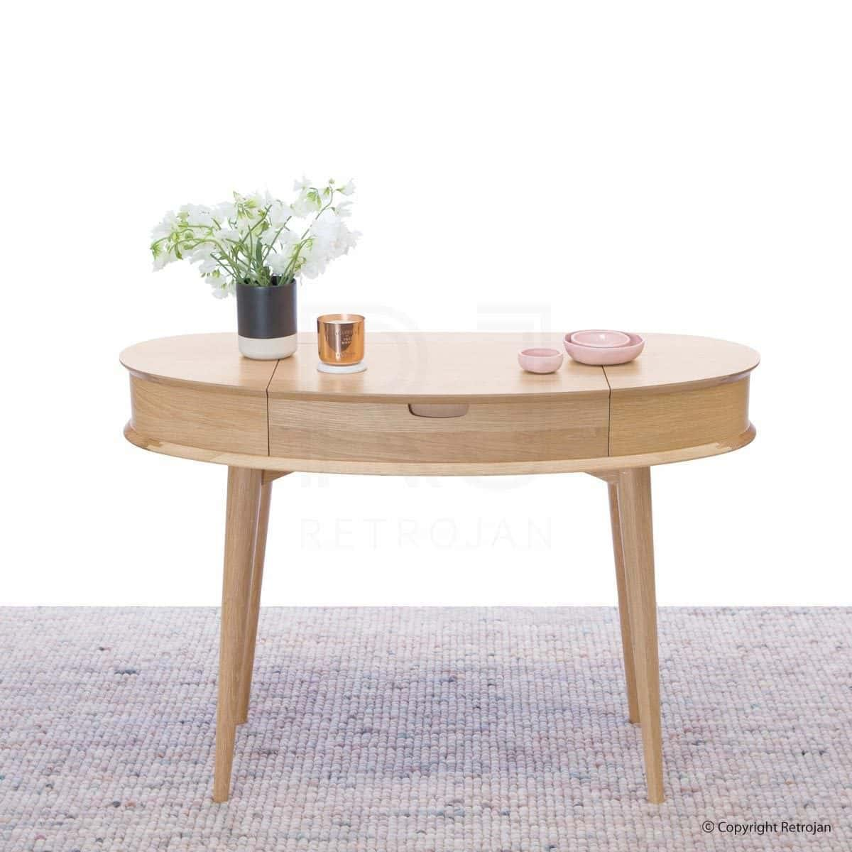 Buy madeline danish inspired dressing table scandinavian table malmo madeline danish inspired dressing table oak geotapseo Choice Image