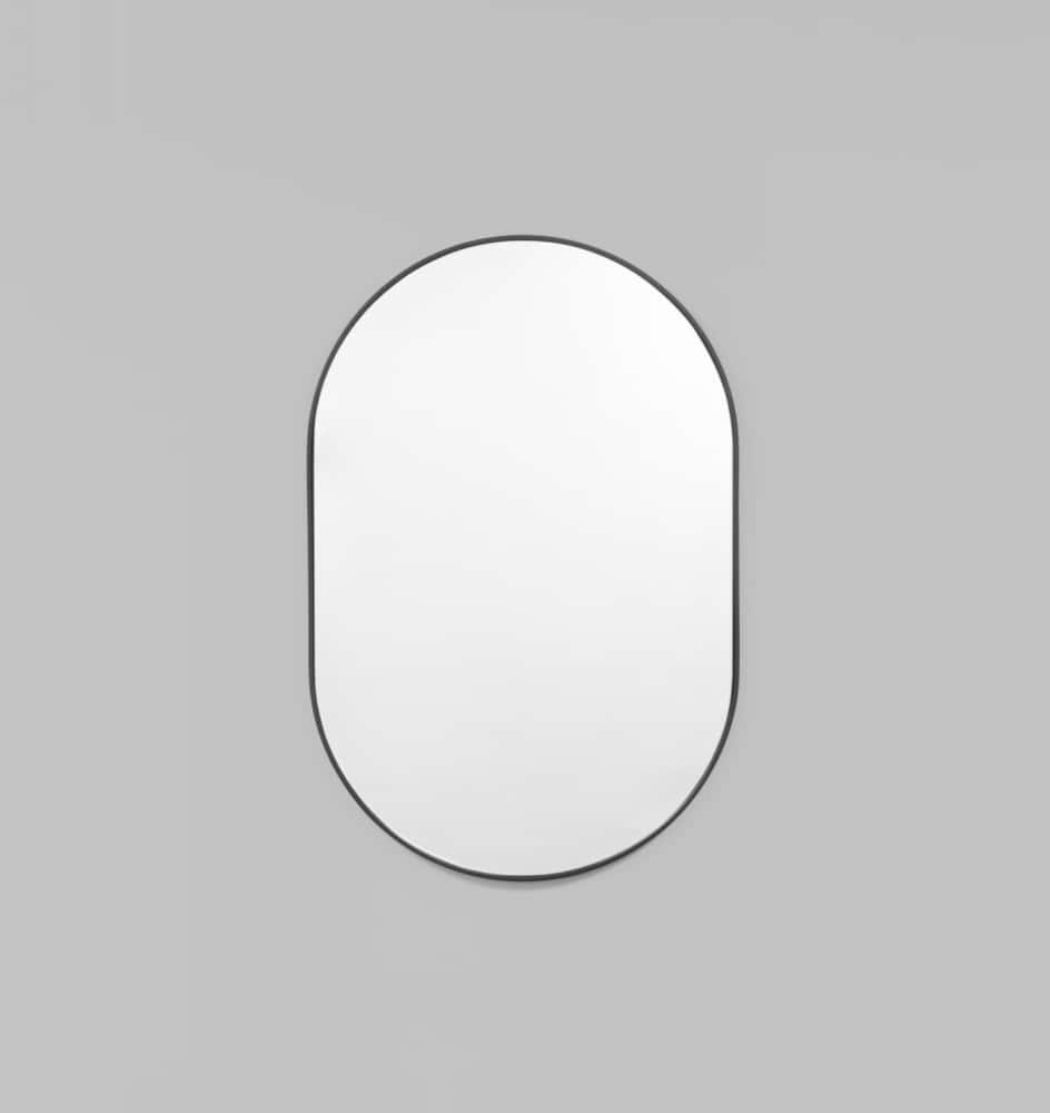 Buy bjorn small oval mirror black by middle of nowhere for Oval mirror canada