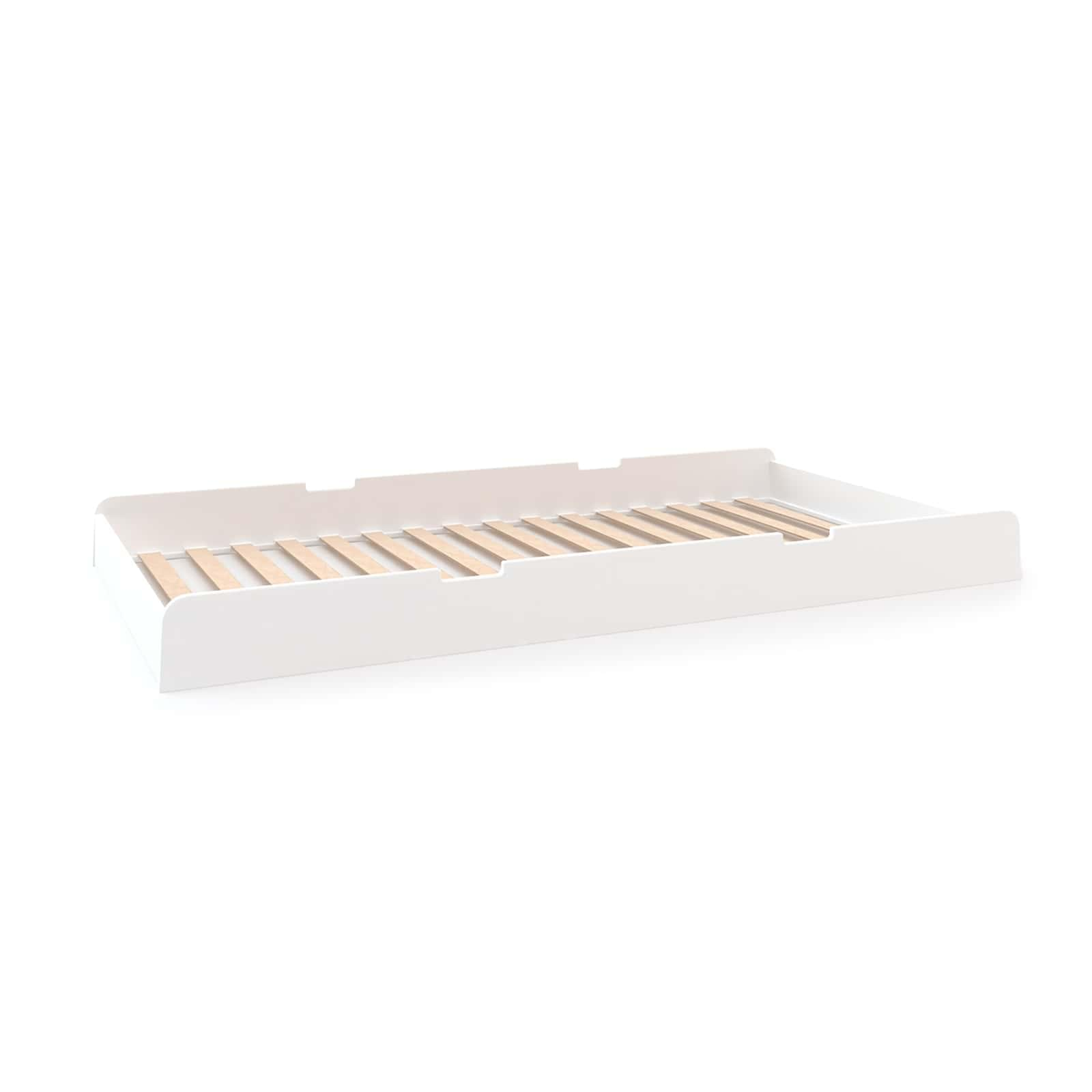 Buy oeuf river trundle bed white online retrojan for Jungle furniture white river