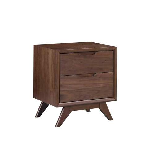 Harper Bedside Table - Walnut