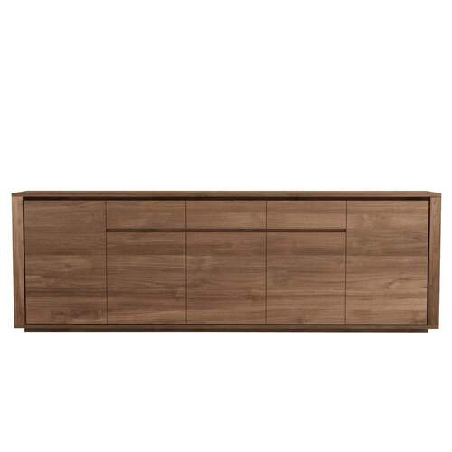 Ethnicraft Teak Elemental Sideboard - 5 Doors/ 3 Drawers