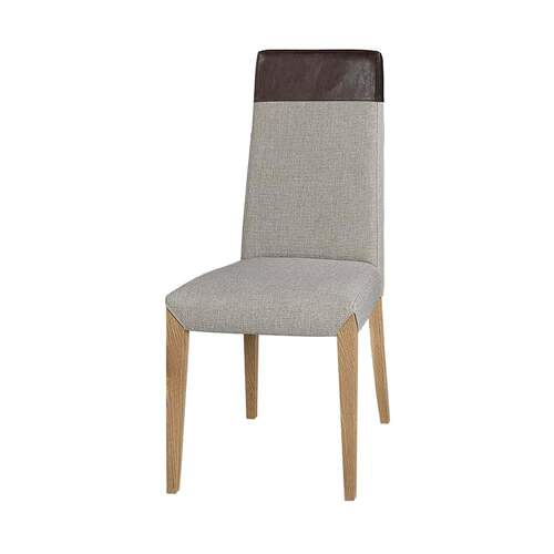 Set of 2 Eliza Contemporary Upholstered Dining Chair with Top Cap