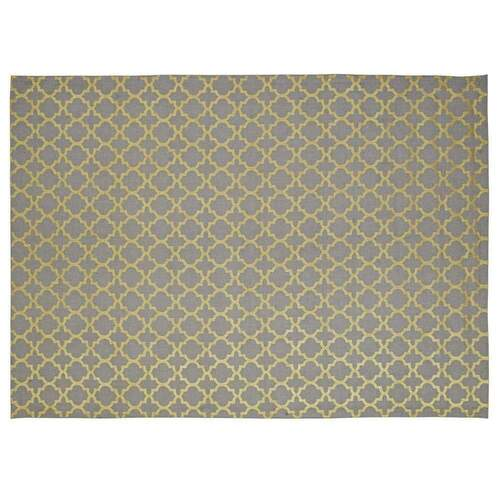 Parisa Modern Designer Rug - Light Grey and Gold Large