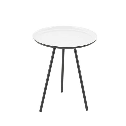 Effie Modern Designer Side Table - White