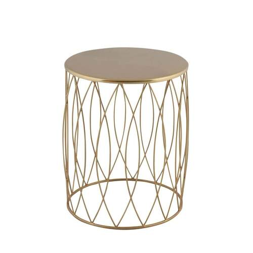 Marcel Modern Designer Wire Side Table - Gold