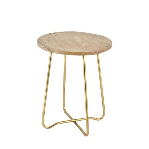 Adeline Modern Designer Side Table - Gold