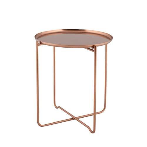 Lucille Modern Designer Side Table - Copper