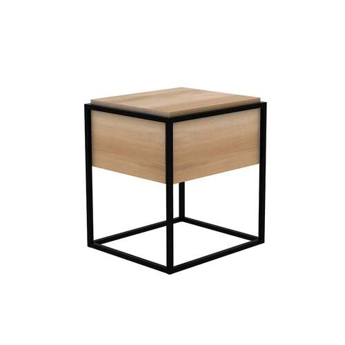 Oak Monolit Nightstand - Black