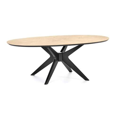 Maddox Contemporary Oval Coffee Table