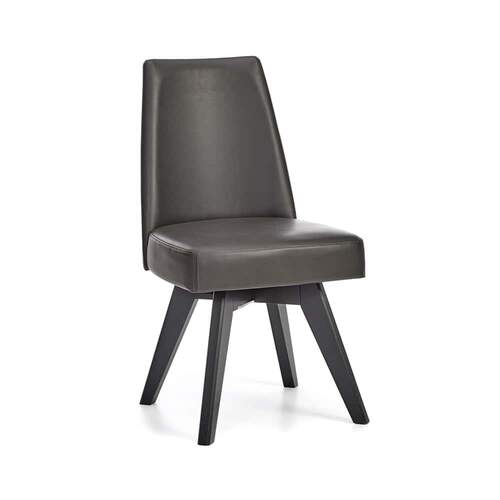 SET OF 2 Arrow Swivel Dining Chair - Bonded Leather