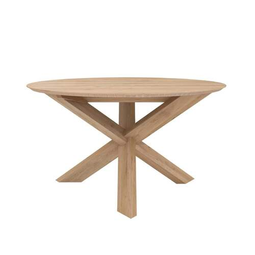 Oak Circle Dining Table - Small