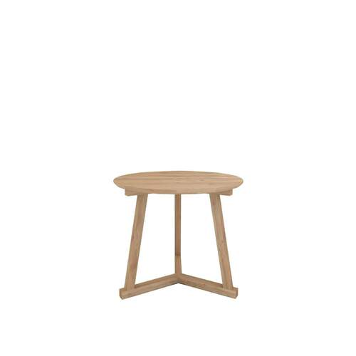 Ethnicraft Oak Tripod Side Table - High