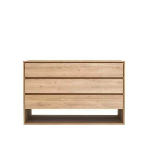 Oak Nordic Chest of Drawers - 3 Drawers