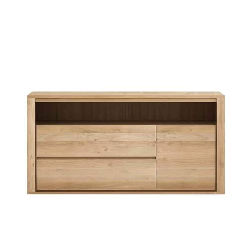 Oak Shadow Chest of Drawers - 2 Drawers