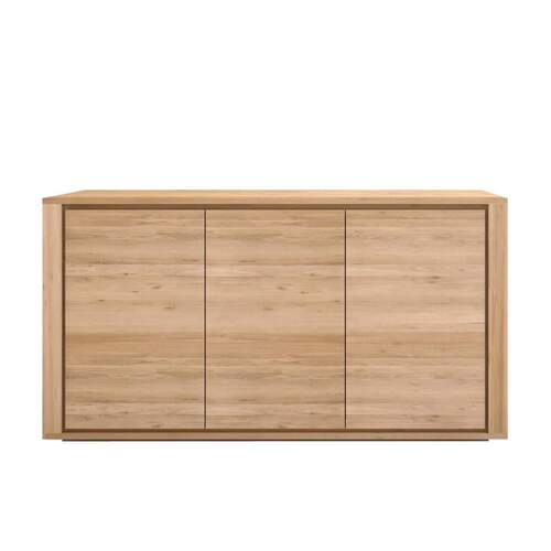 Ethnicraft Oak Shadow Sideboard - 3 Doors