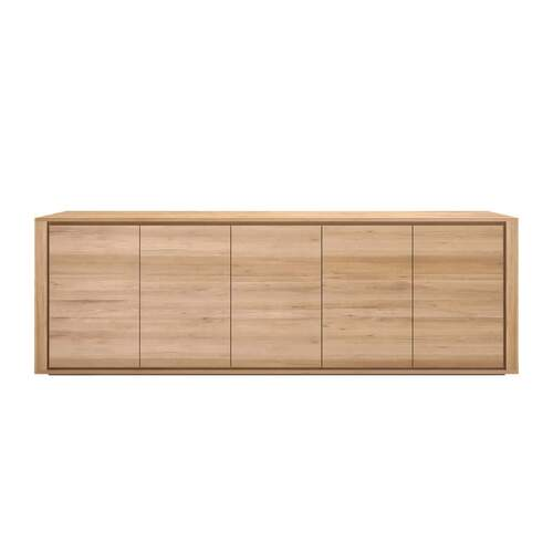 Oak Shadow Sideboard - 5 Doors