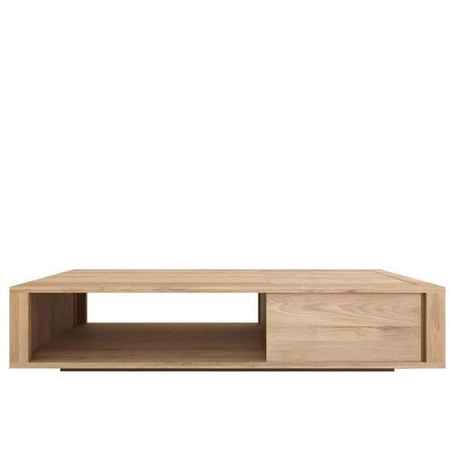 Oak Shadow Coffee Table - 2 Sliding Doors