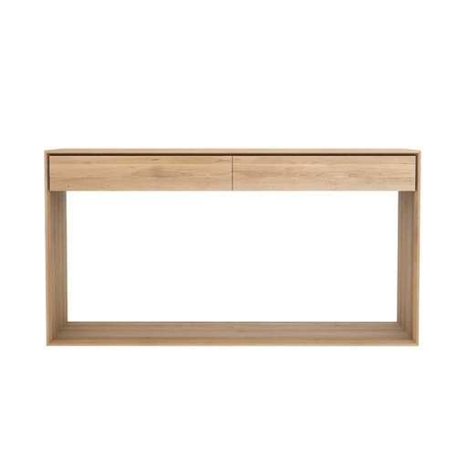 Ethnicraft Oak Nordic Console - 2 Drawers 160cm