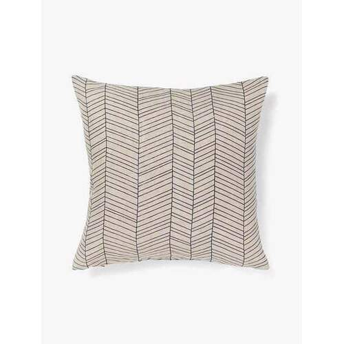 Aura Home Feather Cushion - Stone Blue