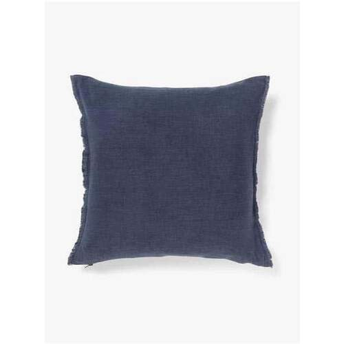 Aura Home Fringe Cushion - Stone Blue